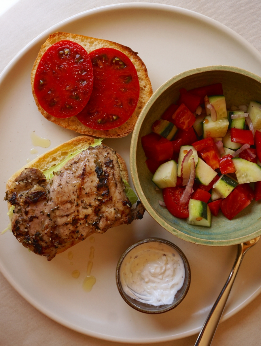 Middle Eastern Garlic and Herb Chicken